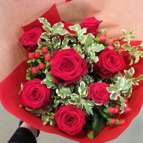 Bouquet roses rouges